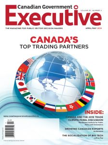 photo of the cover of Canadian Government Executive Magazine
